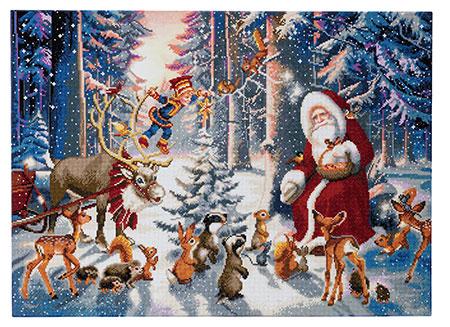 Malen nach Zahlen Bild Weihnachten im Wald - CAK-A54 von Sonstiger Hersteller