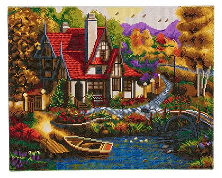 Malen nach Zahlen Bild Cottage am Flusslauf - CAK-A56 von Craft Buddy