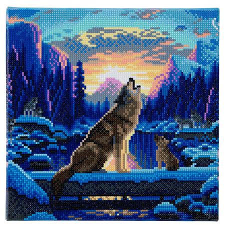 Malen nach Zahlen Bild Heulende Wölfe - CAK-A67 von Sonstiger Hersteller