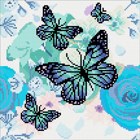 Malen nach Zahlen Bild Orchideen und Schmetterlinge - CAK-A75 von Sonstiger Hersteller