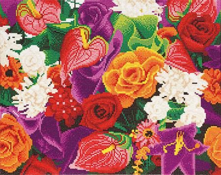 Malen nach Zahlen Bild Bunte Sommerblumen - CAK-A88 von Sonstiger Hersteller