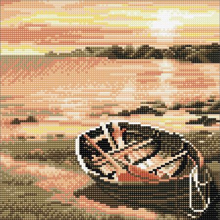Malen nach Zahlen Bild Verlassenes Ruderboot - CAK-A92M von Craft Buddy