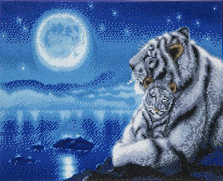 Schlafende weiße Tiger