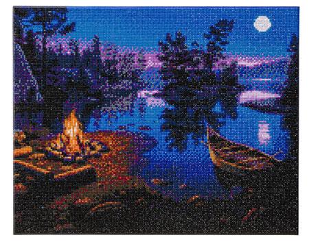 Lagerfeuer im Mondlicht