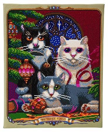Malen nach Zahlen Bild Drei königliche Katzen - CAK-RS4 von Sonstiger Hersteller