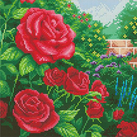 Malen nach Zahlen Bild Perfekte rote Rosen - CAK-TK1M von Craft Buddy