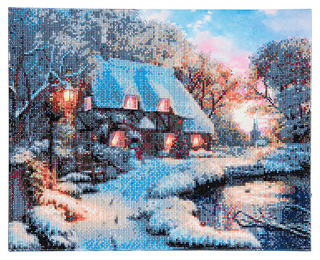 Malen nach Zahlen Bild Landschaft im Winter - CAK-XLED1 von Sonstiger Hersteller