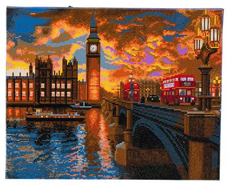Malen nach Zahlen Bild London bei Sonnenuntergang - CAK-XLED10 von Sonstiger Hersteller