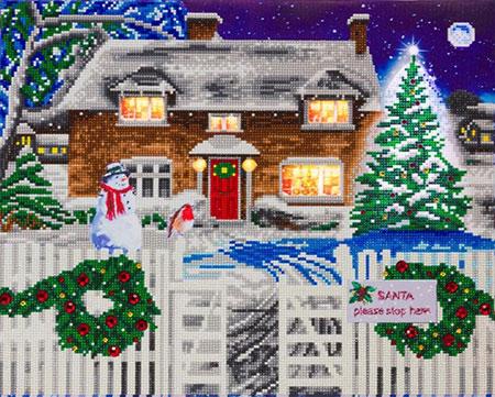 Malen nach Zahlen Bild Weihnachtliches Häuschen - CAK-XLED19 von Craft Buddy
