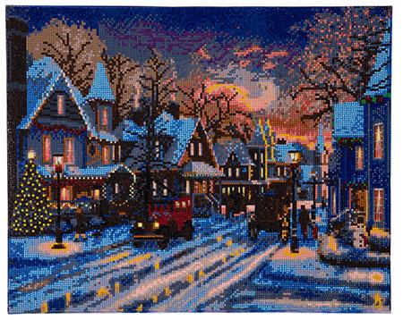Malen nach Zahlen Bild Weihnachten in der Kleinstadt - CAK-XLED2 von Sonstiger Hersteller