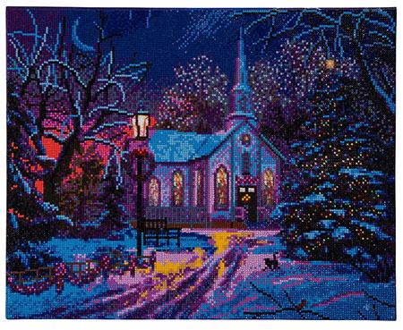 Malen nach Zahlen Bild Kirche zu Weihnachten - CAK-XLED3 von Sonstiger Hersteller