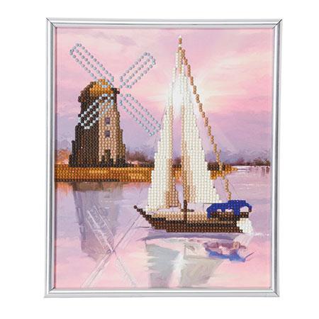 Segelschiff mit Windmühle