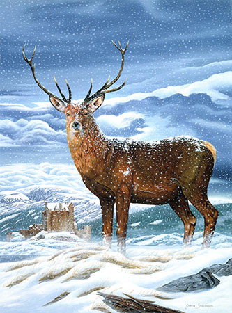 Malen nach Zahlen Bild Hirsch im Winter - CAM-8 von Artibalta