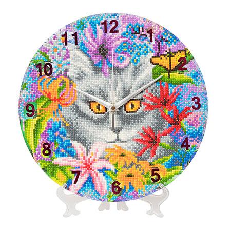 Malen nach Zahlen Bild Uhr - Clevere Katze - CLK-S2 von Craft Buddy