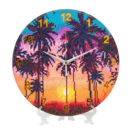 Malen nach Zahlen Bild Palmen im Sonnenuntergang - CLK-S4 von Sonstiger Hersteller