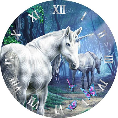 Malen nach Zahlen Bild Uhr - Einhorn - CLK-S5 von Sonstiger Hersteller