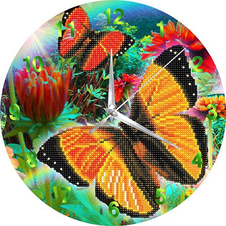 Malen nach Zahlen Bild Uhr - Schmetterling - CLK-S7 von Sonstiger Hersteller