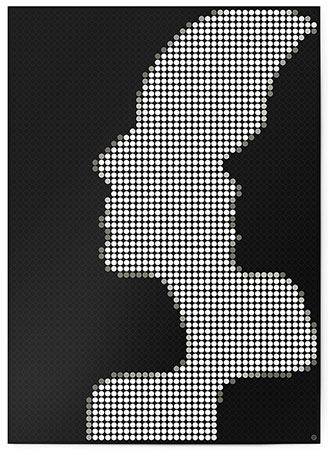 Malen nach Zahlen Bild DOT ON ART - Silhouette - black-white-silhouette-XL von Dot On