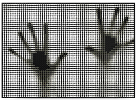 Malen nach Zahlen Bild DOT ON ART - Hände - black_white-hands-XL von Dot On