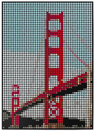 DOT ON ART - Golden Gate Bridge
