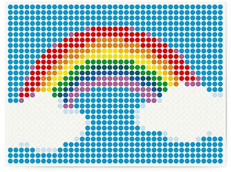 DOT ON ART - Regenbogen