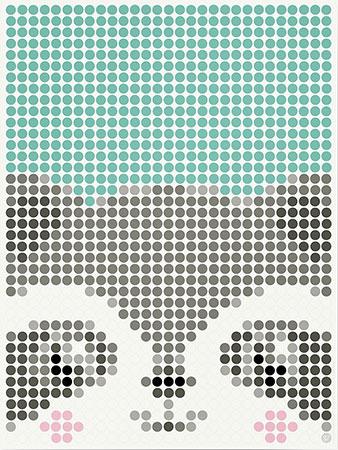 Malen nach Zahlen Bild DOT ON ART - Waschbär - kids-racoon-L von Dot On