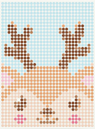 Malen nach Zahlen Bild DOT ON ART - Rentier - kids-reindeer-L von Dot On