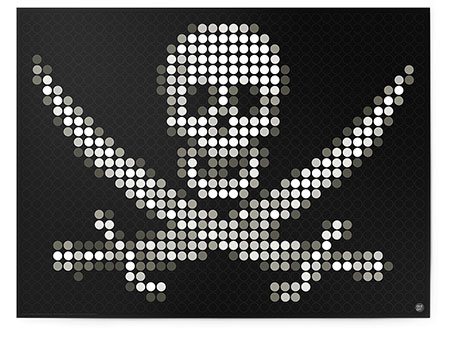 Malen nach Zahlen Bild DOT ON ART - Piratenflagge - pirate-jolly-L von Dot On