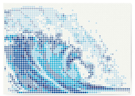 Malen nach Zahlen Bild DOT ON ART - Welle - sea-wave-XL von Dot On