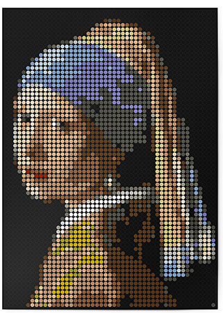 Malen nach Zahlen Bild DOT ON ART - Vermeer - she-vermeer-XL von Dot On