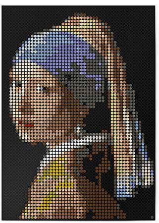 Malen nach Zahlen Bild DOT ON ART - Vermeer - she-vermeer-XL von Dot On