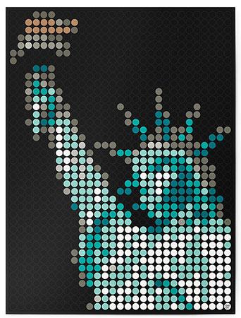 Malen nach Zahlen Bild DOT ON ART - Freiheitsstatue - sights-liberty-L von Sonstiger Hersteller