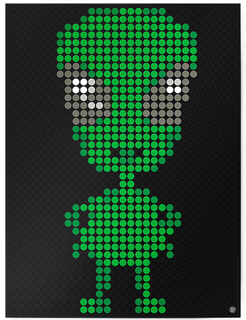 Malen nach Zahlen Bild DOT ON ART - Alien - space-alien-L von Dot On
