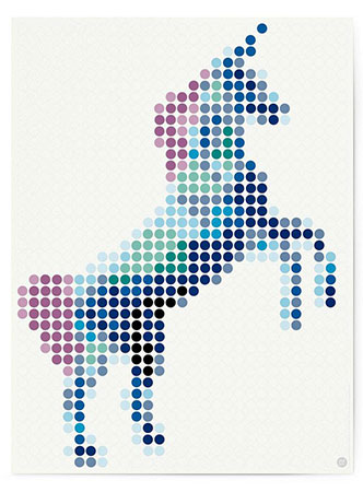 Malen nach Zahlen Bild DOT ON ART - Einhorn - trend-unicorn-L von Dot On