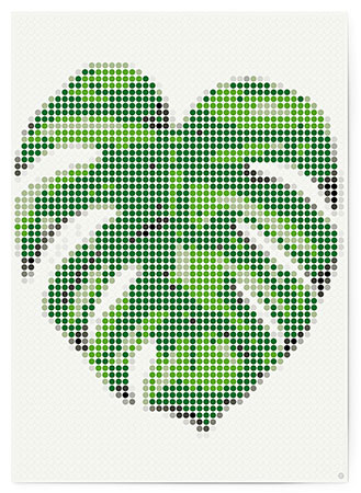 Malen nach Zahlen Bild DOT ON ART - Fensterblatt - tropic-monstera-XL von Dot On