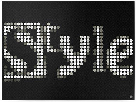 """DOT ON ART - Schriftzug """"STYLE"""""""