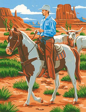 Malen nach Zahlen Bild Cowboy - 105074 von Sonstiger Hersteller