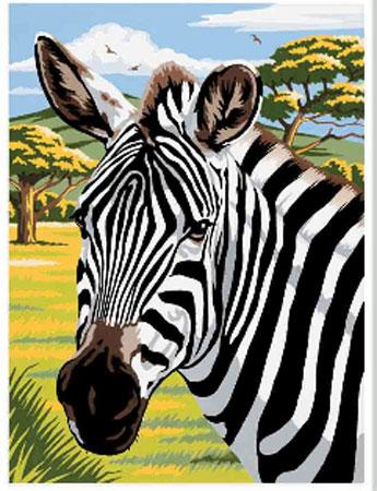 Malen nach Zahlen Bild Zebra - 105101 von Mammut