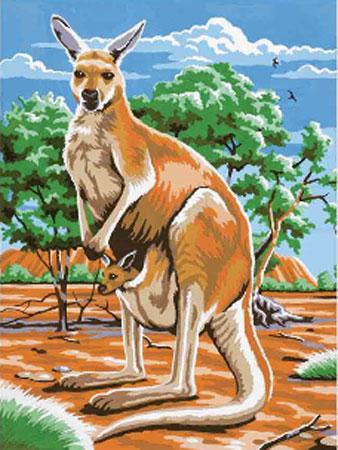 Malen nach Zahlen Bild Känguruhbaby in Mutters Beutel - 105104 von Mammut