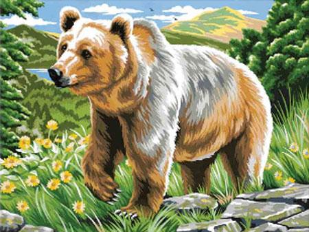 Malen nach Zahlen Bild Braunbär bei der Rast - 109201 von Mammut
