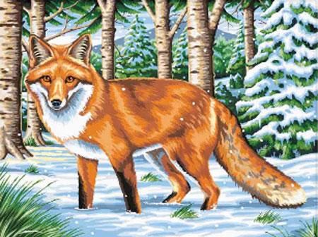 Fuchs in der Winterlandschaft