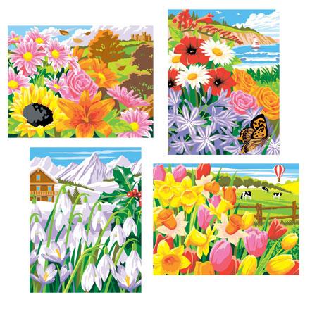 Malen nach Zahlen Bild Blumen der Saison - 8211522 von Mammut