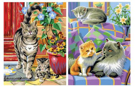 Malen nach Zahlen Bild Katzen - 8230213 von Mammut