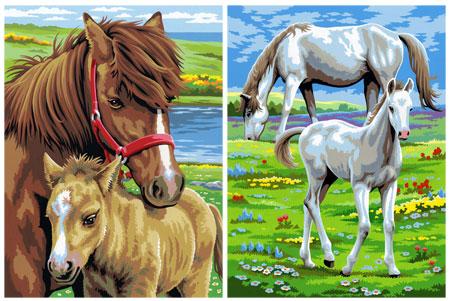 Malen nach Zahlen Bild Pferde - 8230215 von Mammut