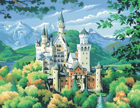 Malen nach Zahlen Bild Schloss Neuschwanstein - 8240128 von Mammut