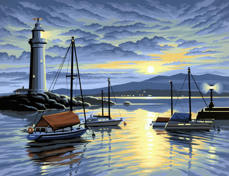 Hafen im Sonnenaufgang