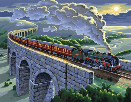 Malen nach Zahlen Bild Eisenbahn - 8240428 von Mammut