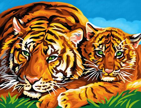 Malen nach Zahlen Bild Tiger - 8241039 von Mammut