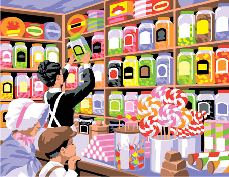 Malen nach Zahlen Bild Süßigkeiten Laden - 8241520 von Mammut