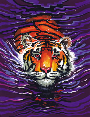 Malen nach Zahlen Bild Schwimmender Tiger - 110007 von Mammut